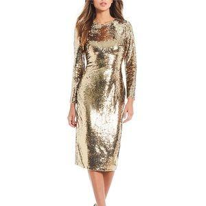 NWT GB Gianni Bini Zoe Sequin Pencil Midi Dress